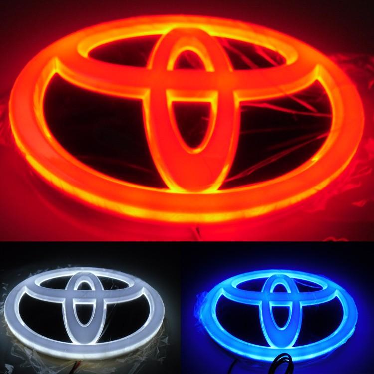 汽车4d丰田卡罗拉,凯美瑞,皇冠led后车标4d带灯炫彩标
